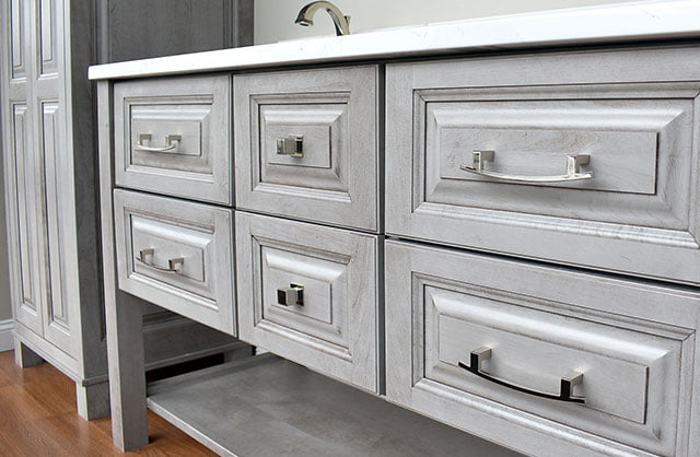 grey kitchen cabinet