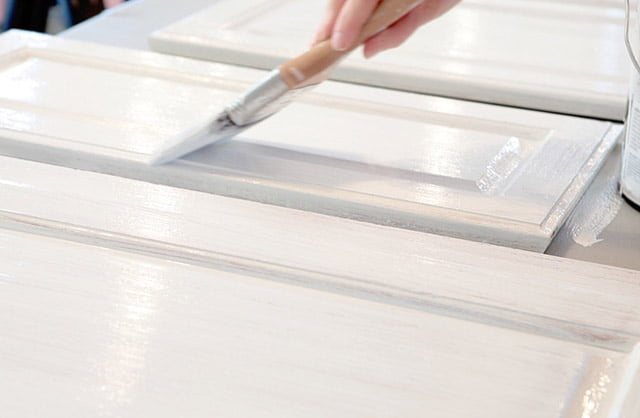 hand painting kitchen cabinets