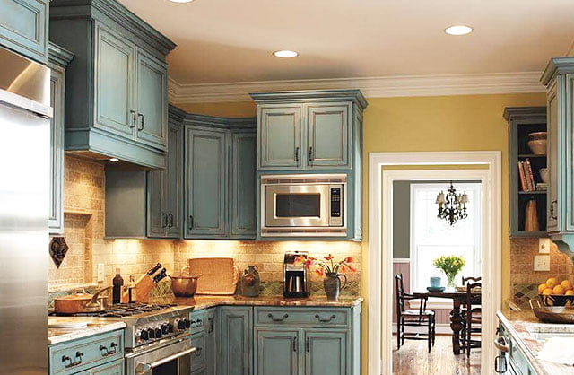special effects kitchen painting blue